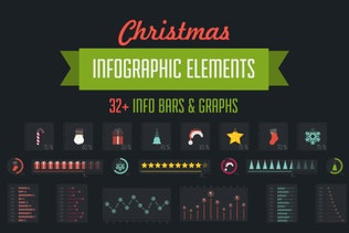 32 Christmas Infographic Elements