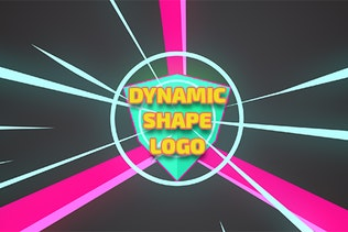 Dynamic Shape Logo Reveal