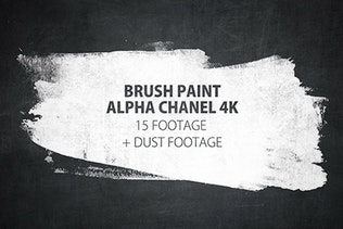 16 Paint Brush Stroke Transitions Reveal Pack Matte/ Oil Art Dust Ink Grunge Texture/ Chalk Board