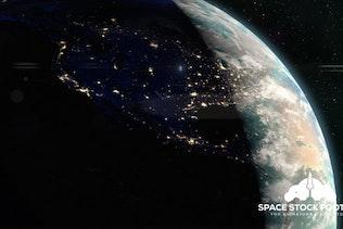 Planet Earth - Dawn Breaks Over America