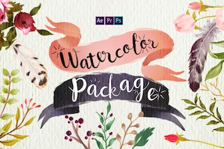 Handwriting Watercolor Package