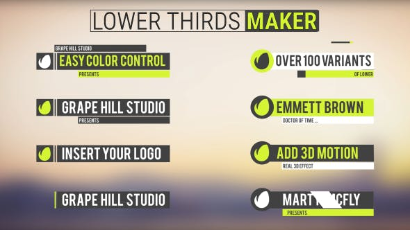 Lower Thirds Maker
