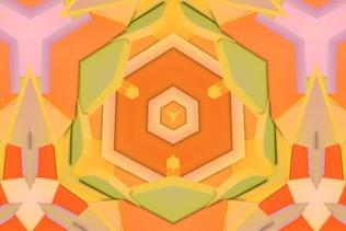 3D Kaleidoscope Pattern