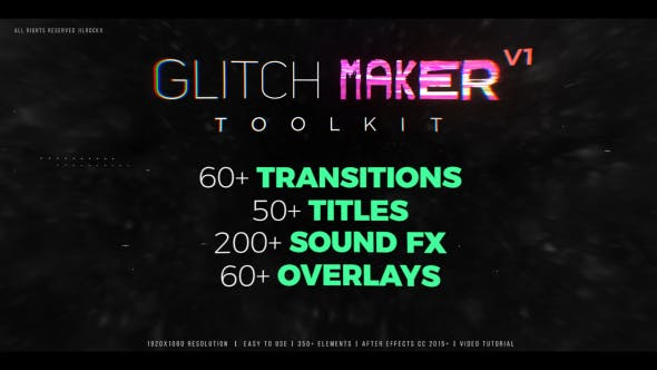 Glitchmaker Toolkit 350+ Elements
