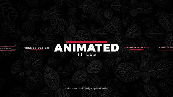 Animated Titles Pack