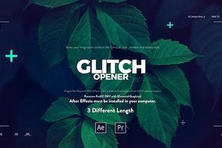 Glitch Media Opener I Premiere Pro