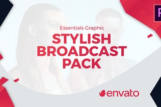 Stylish Broadcast Pack | Essential Graphics | Mogrt