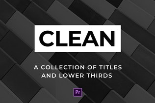Clean Titles and Lower Thirds - For Premiere Pro