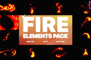 Fire Elements | Premiere Pro MOGRT