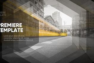 Slideshow - Stylish Hexagon // Premiere Pro