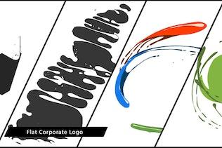 Flat Corporate Logo V04 Liquid