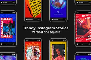 Trendy Instagram Stories | Vertical and Square
