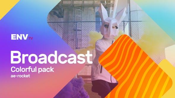 Broadcast ID Colorful Pack Mogrt