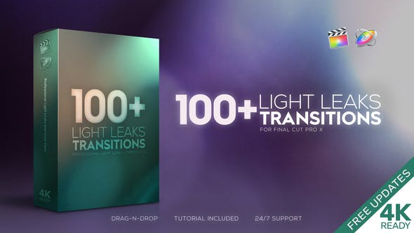 FCPX Light Leaks Transitions