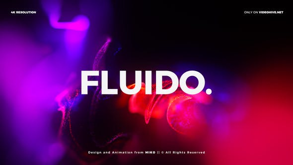 Particles Titles 4K - Fluido