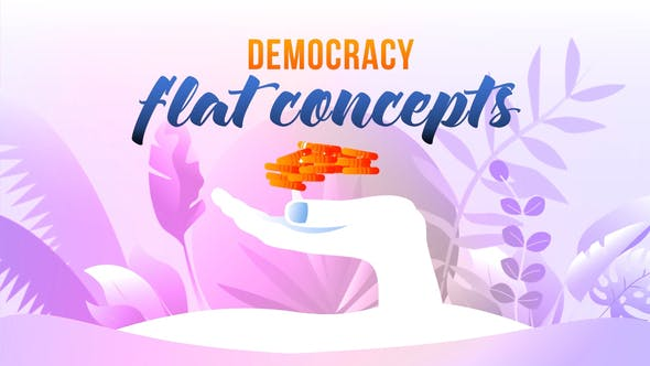 Cover for Democracy - Flat Concept