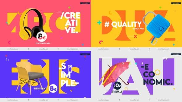 پروژه آماده افتر افکت رایگان رنگی Colorful Product Promo by Renname