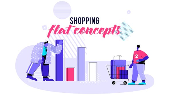 Cover for Shopping - Flat Concept