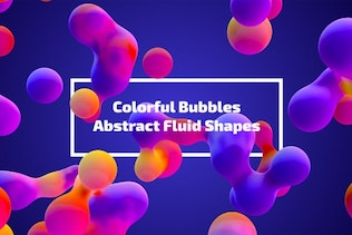 Colorful Bubbles - Abstract Fluid Shapes
